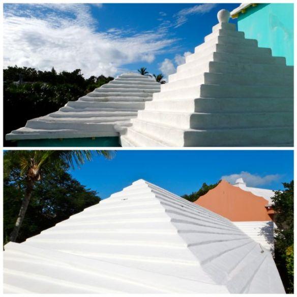 Tetos das casas em Bermuda