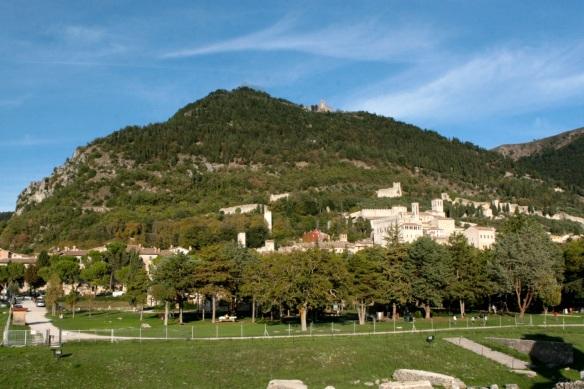 Gubbio e a basilica de Santo Ubaldo