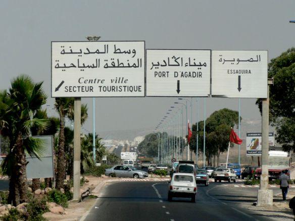 Chegando em Agadir