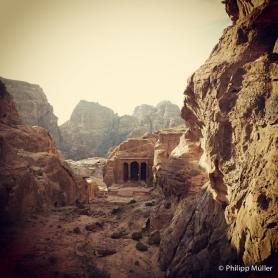 Petra - subindo para o High place of Sacrifice
