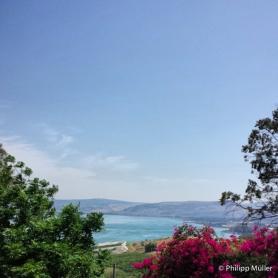 Mar da Galiléia visto do Monte das Bem-aventuranças