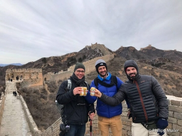 A grande cerveja na Grande Muralha