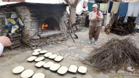 Assando pães